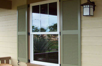 Faux Wood Exterior Shutters