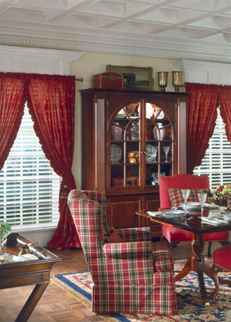 Shaded Arched Interior Blinds