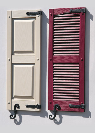 Vinyl Exterior Shutters Contractor Los Angeles Orange County Ca Louver Raised Panel Board Batten