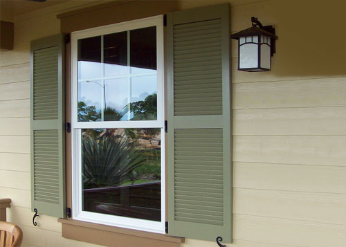 Outdoor Glass Window Shutter