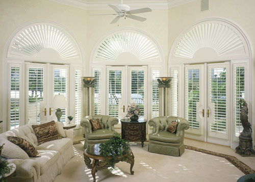 Living Room Interior Shutters