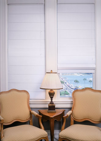 White Fabric Blinds Shades