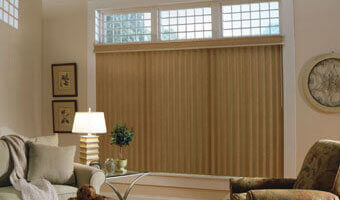 Orange Vertical Window Blinds